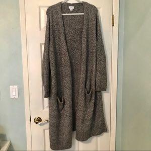 Old Navy gray marl super long cardigan 2X